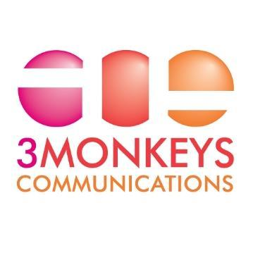 Leading Public Relations Business Logo: 3 Monkeys Communications