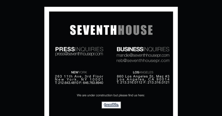 Home Page Of 10 Leading Beauty Pr Company Seventh House
