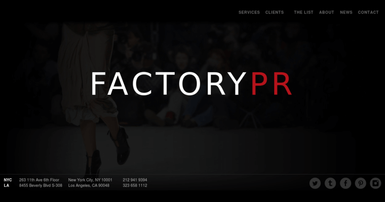 Factory Pr Home Page