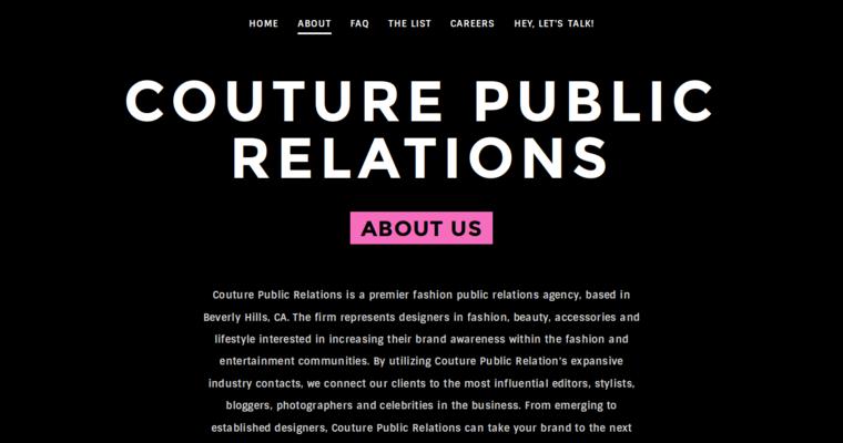 Couture Public Relations Best Fashion Pr Firms